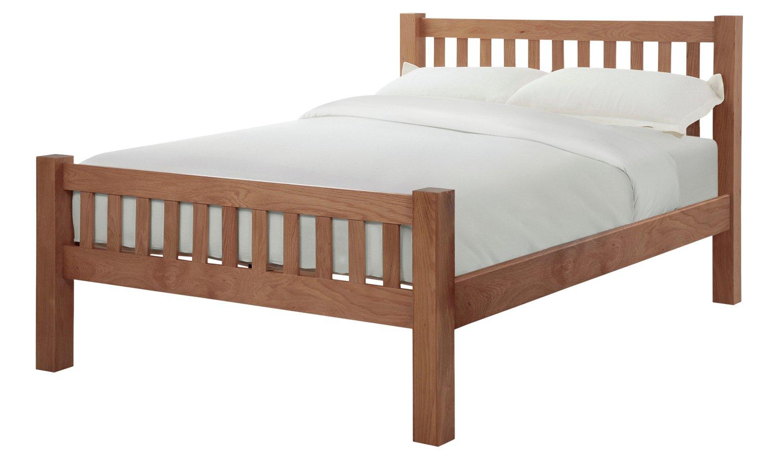 Silentnight Ayton Double Bed Frame - Solid Oak