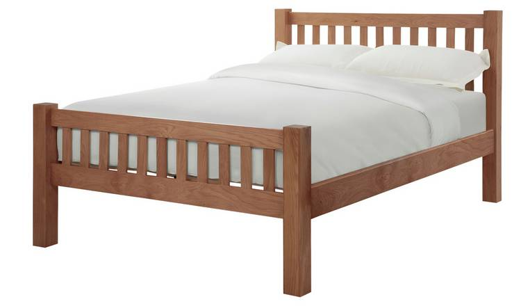 Silentnight Ayton Double Bed Frame - Solid Oak