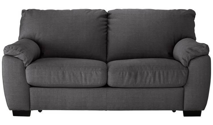 Buy Argos Home Milano 2 Seater Fabric Sofa Bed Charcoal Sofa