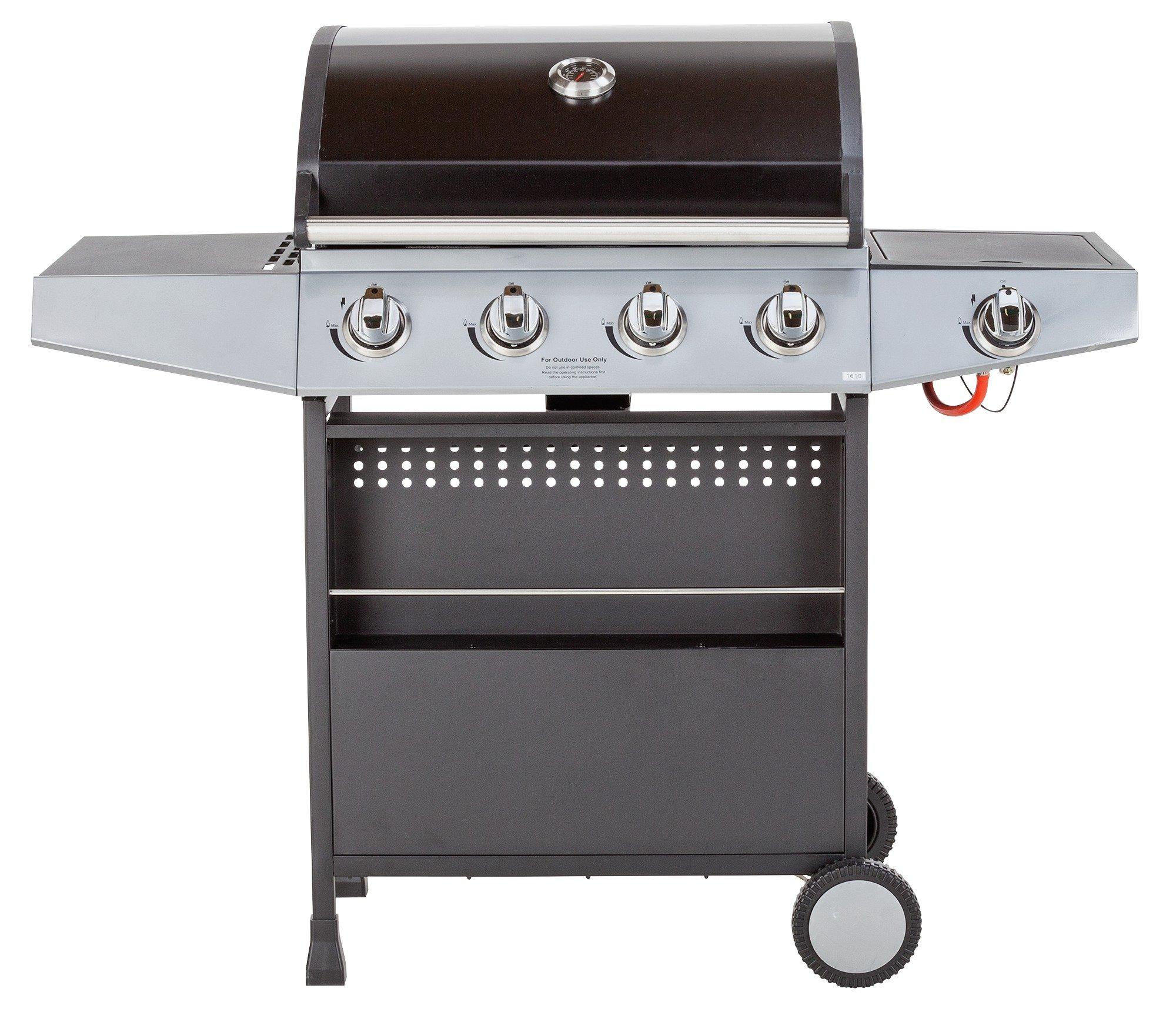 Premium 4 Burner Gas BBQ with Side Burner - Home Delivery
