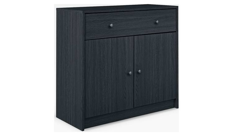 Habitat 2 Door 1 Drawer Sideboard - Black