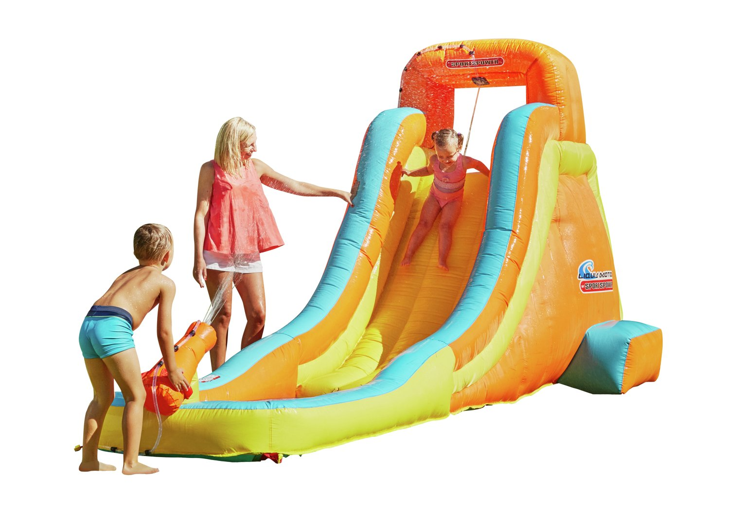 Chad valley inflatable water slide review for Garden pool argos