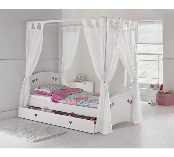 Buy collection mia four poster bed with elliott mattress for 4 poster white bed
