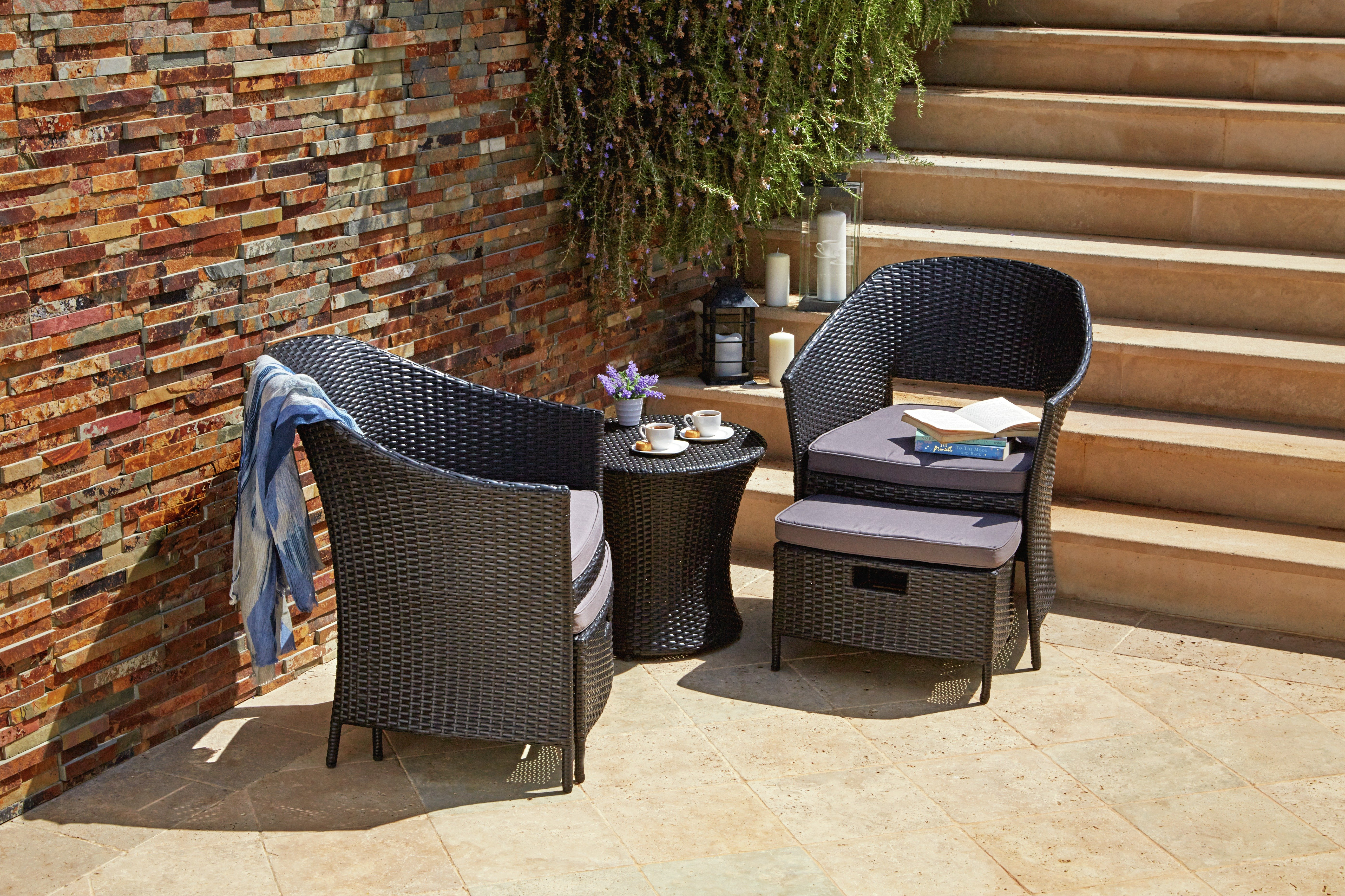 Garden Furniture 2 Seater buy home rattan effect 2 seater egg set with stools at argos.co.uk