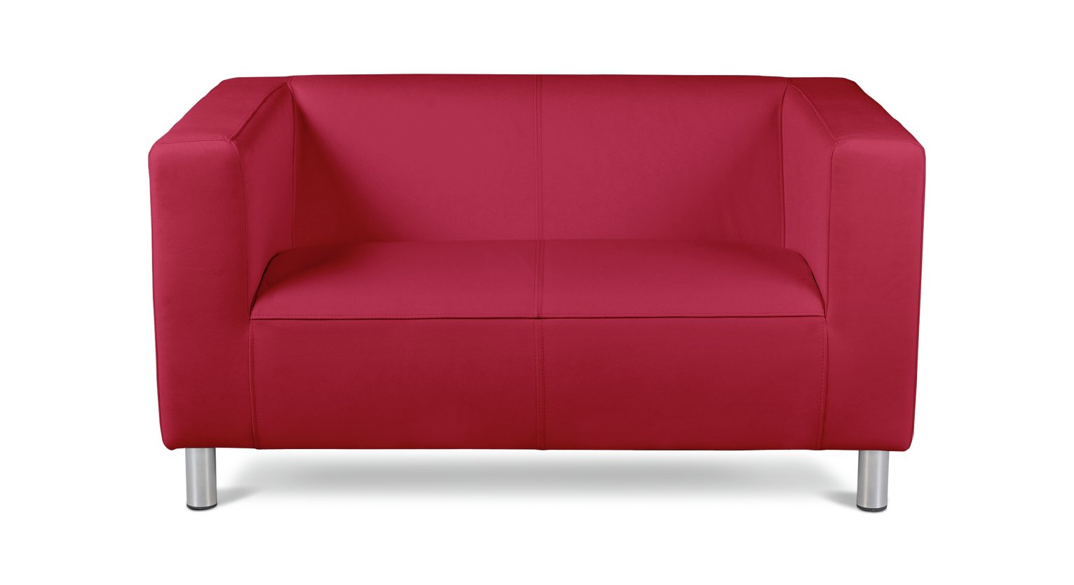Argos Home Moda Compact 2 Seater Faux Leather Sofa - Red