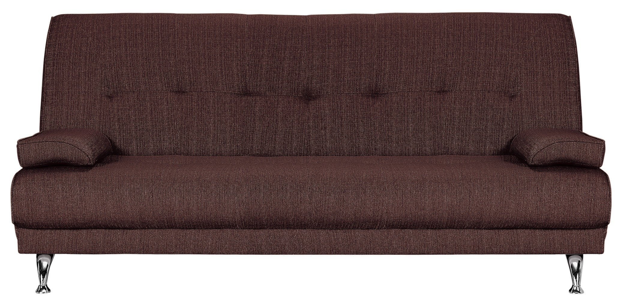 Home - Sicily - 2 Seater Fabric Clic Clac - Sofa Bed - Chocolate lowest price