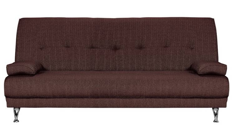 Buy Argos Home Sicily 2 Seater Clic Clac Sofa Bed Chocolate Sofa