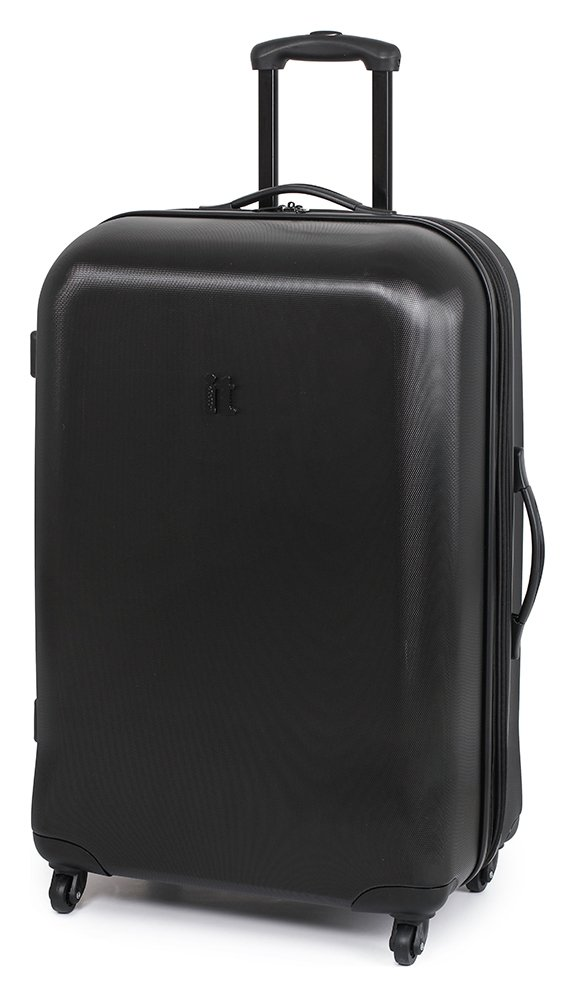 Buy IT Luggage Hard Expandable Large 4 Wheel Suitcase - Black at ...