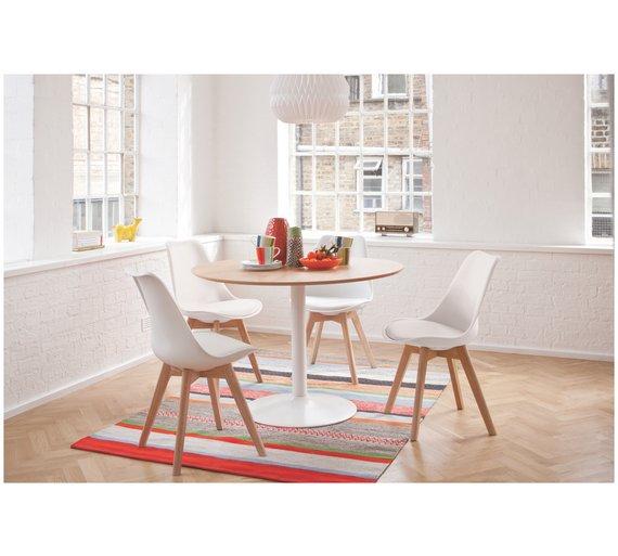 Buy Habitat Lance Oak Veneer Table 4 Jerry Chairs