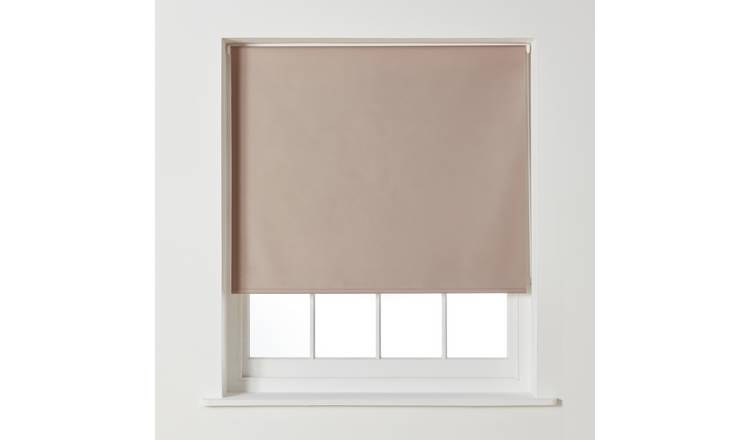 Argos Home Blackout Roller Blind - 4ft - Mocha