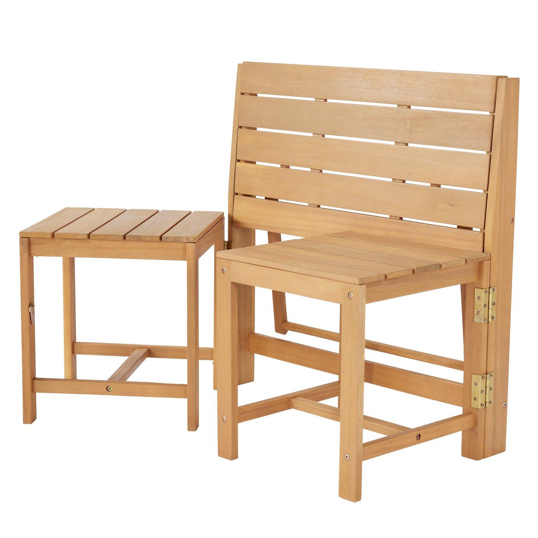 Argos Home Wooden Bench to Bistro Set