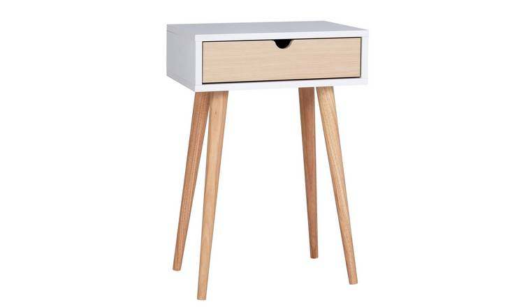 Argos Home Skandi 1 Drawer Dressing Table - White Two Tone