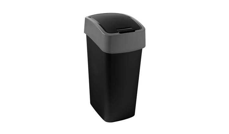 Curver Pacific 50 Litre Flip Top Kitchen Bin - Black