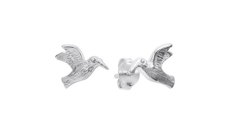 Revere Sterling Silver Hummingbird Stud Earrings