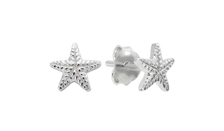 Revere Sterling Silver Starfish Studs