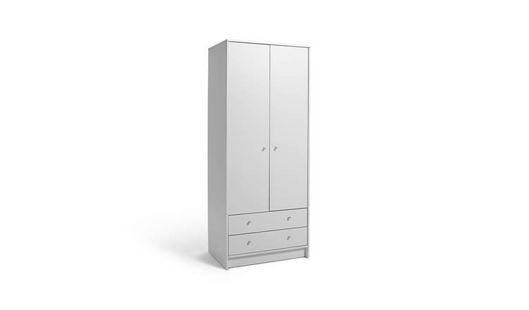 Argos Home Mailbu 2 Door 2 Drawer Wardrobe - White