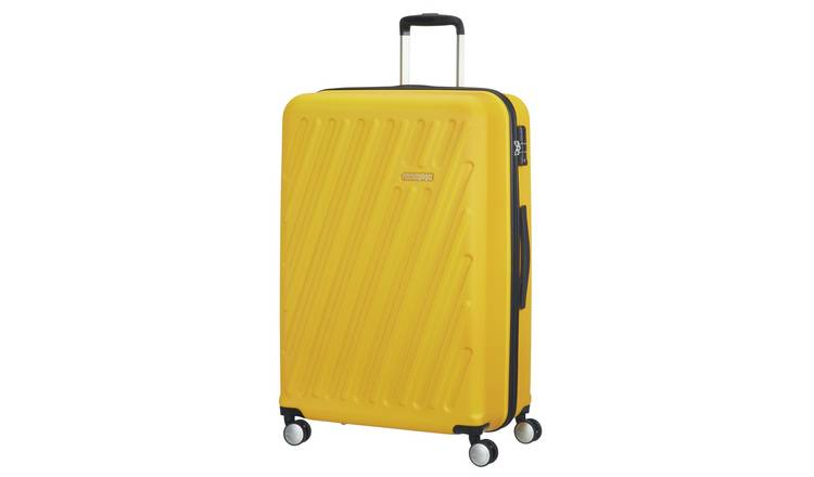 American Tourister Hypercube Large Yellow Suitcase