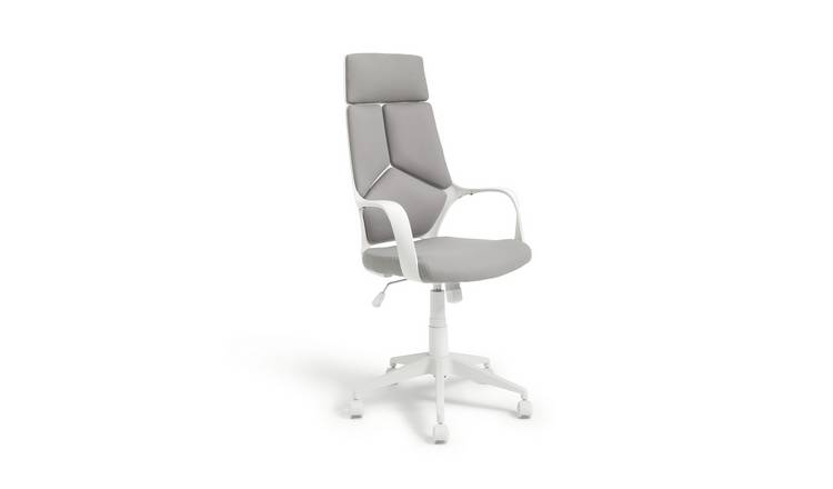Argos Home Alma High Back Ergonomic Office Chair - Grey