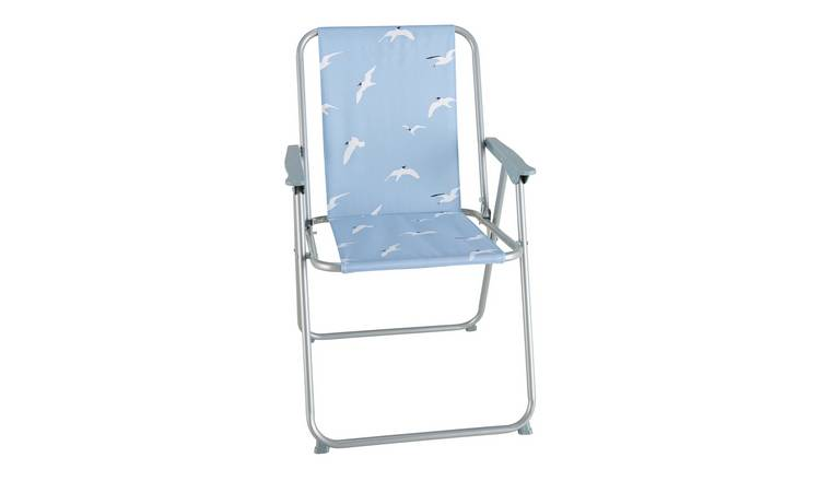Argos Home Metal Folding Picnic Chair - Seagull