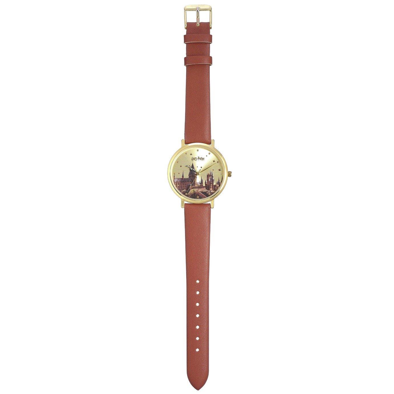 Harry Potter Hogwarts Castle Brown Leather Strap Watch