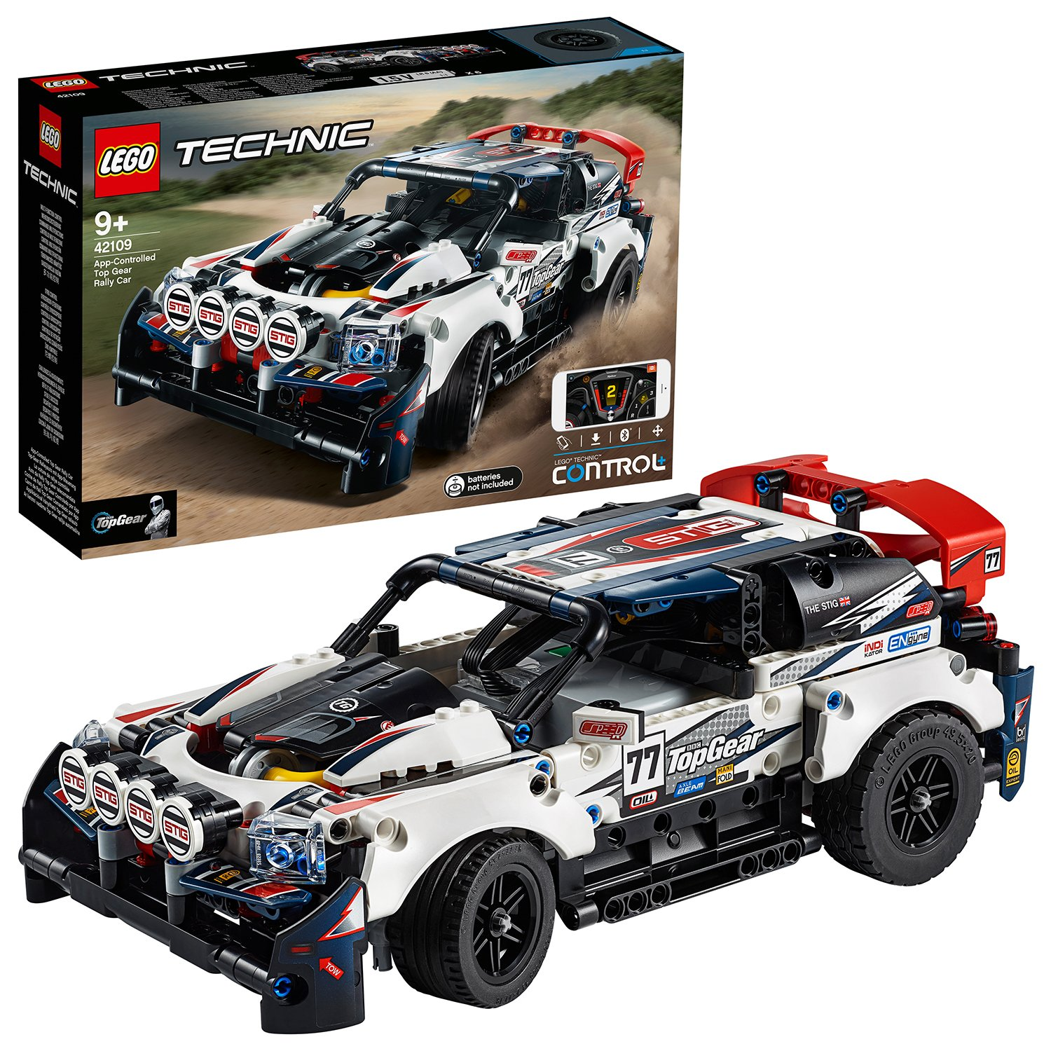 LEGO Technic Control+ Top Gear Rally Car RC Toy 42109