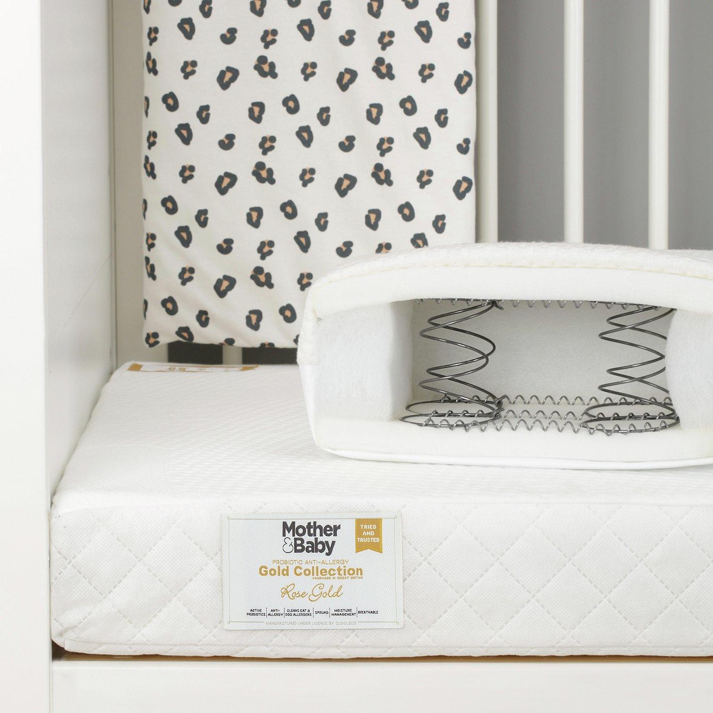 Mother&baby 140 x 70cm anti-allergy sprung cot bed mattress