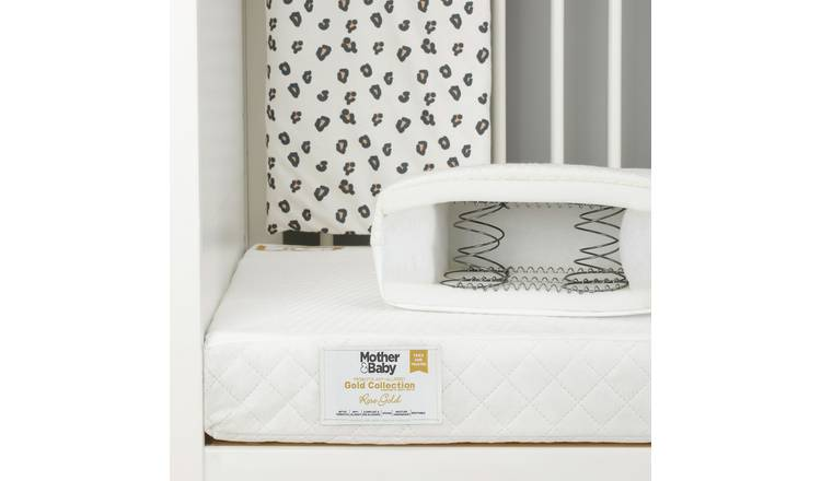 Mother&Baby 140 x 70cm Anti-Allergy Sprung Cot Bed Mattress