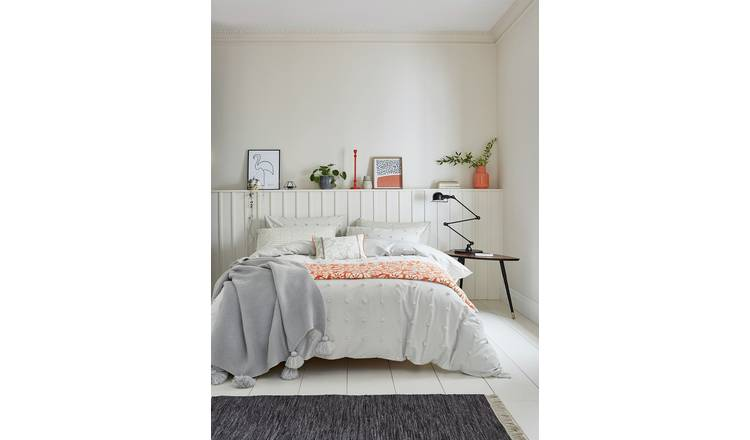 Helena Springfield Grey Woven Spot Bedding Set - Double