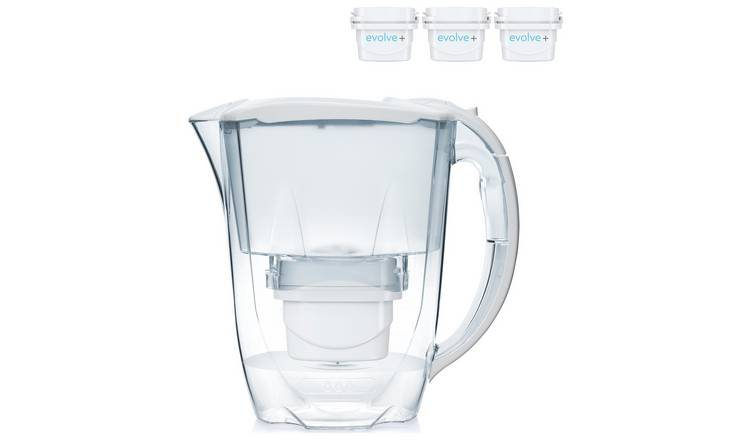 Aqua Optima Oria Water Filter Jug with 3 Filter Cartridges