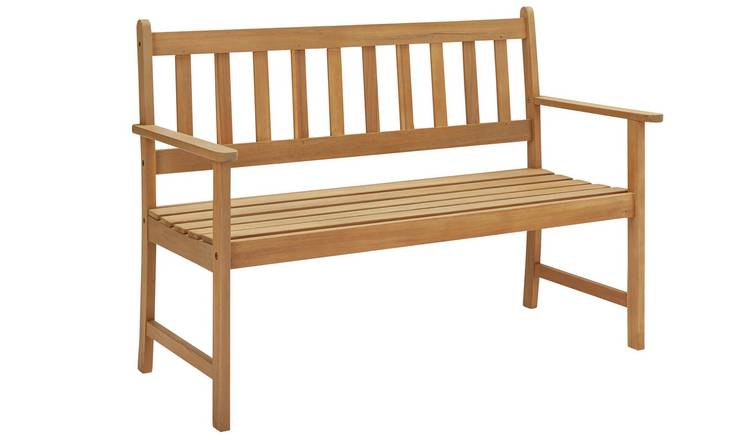 Argos Home Newbury Wooden 2 Seater Garden Bench - Light Wood
