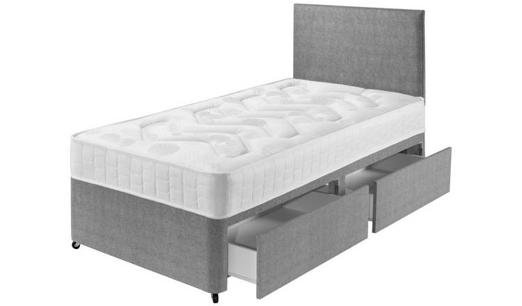 Argos Home Elmdon Single Deep Ortho 2 Drawer Divan - Grey