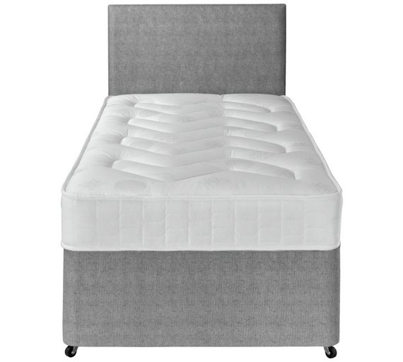 Buy airsprung elmdon deep ortho single 2 drawer divan bed at your online shop for Argos single divan beds