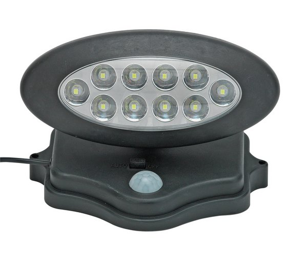 Buy home solar pir security light solar lighting argos click to zoom aloadofball Image collections