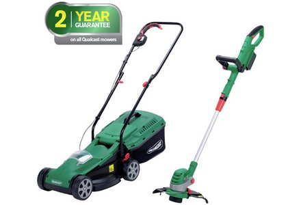 Image of the Qualcast Cordless Lawnmower And Grass Trimmer - 24V.