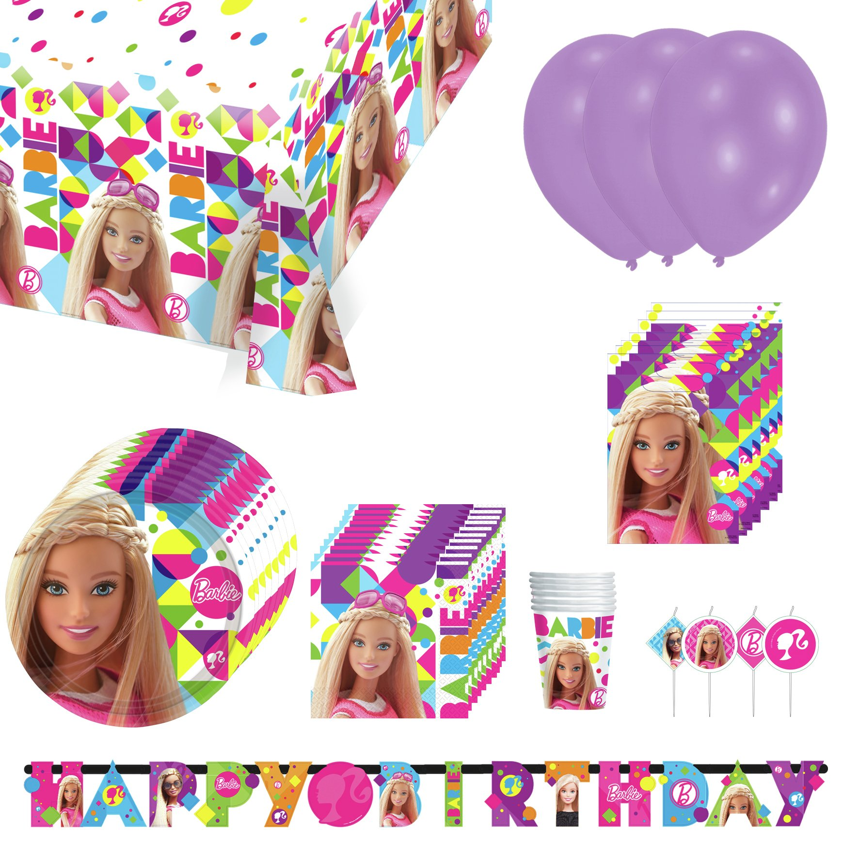 Image of Barbie Party Pack for 16 Guests