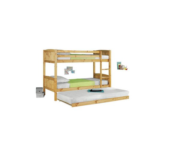Buy home detachable bunk bed with trundle ashley for Detachable bunk beds