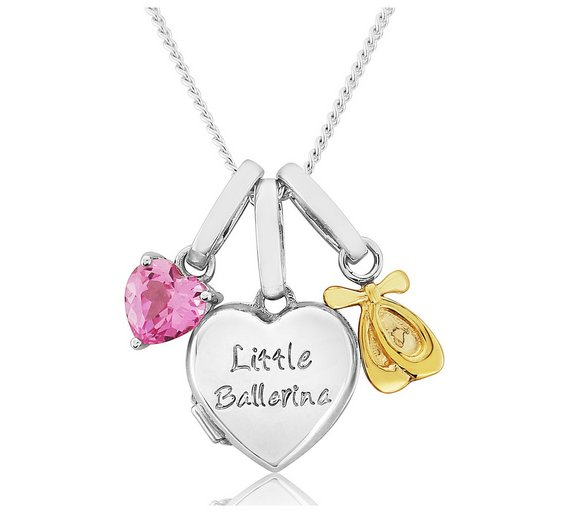 Buy sterling silver little ballerina charm 2 photo locket at sterling silver little ballerina charm 2 photo locket4689661 aloadofball Choice Image