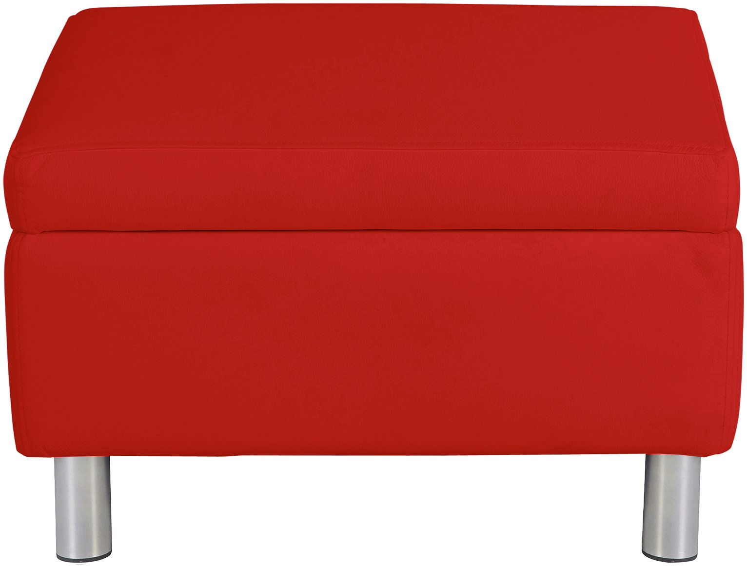 Argos Home Moda Faux Leather Storage Footstool Red