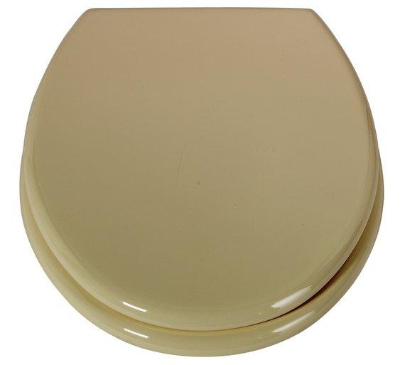 Cream Plastic Toilet Seat. ColourMatch Moulded Wood Toilet Seat  Cream Buy at Argos co uk