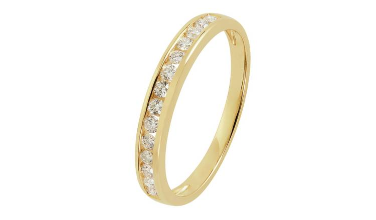 Revere 9ct Gold 25pt tw Diamond Channel Set Eternity Ring -V