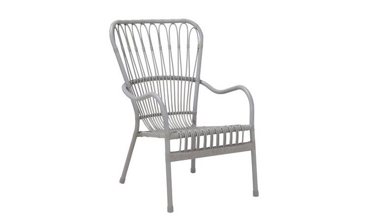 Argos Home Rattan Garden Chair - Grey