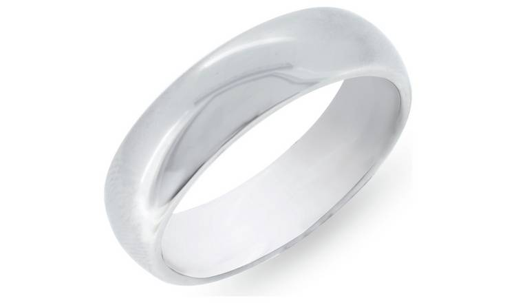 Revere Mens Stainless Steel Polished Ring - R