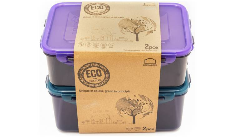 Lock & Lock Eco Set of 2 Food Storage Containers
