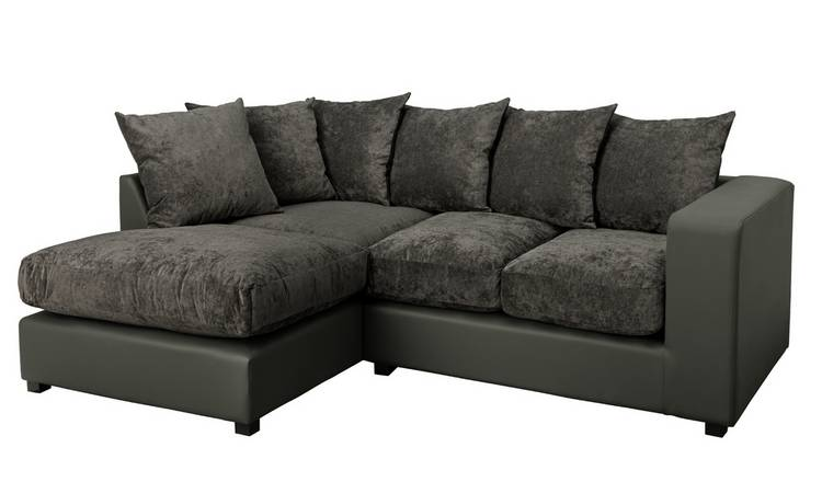 Argos Home Hartley Left Corner Fabric Sofa - Charcoal