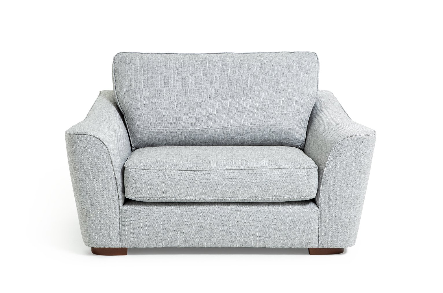 Argos Home Lotus Fabric Cuddle Chair - Silver