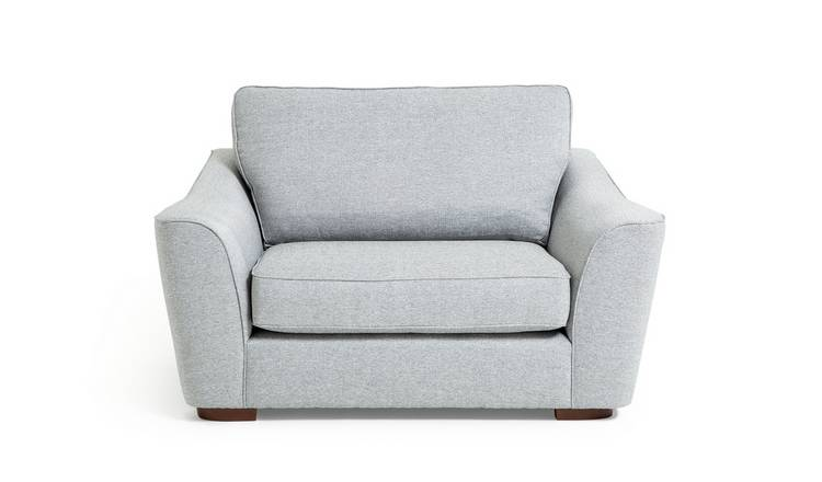 Argos Home Lotus Fabric Cuddle Chair - Silver