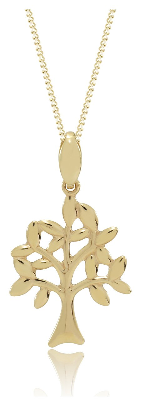 Image of 9 Carat - Yellow Gold - Family Tree Pendant.