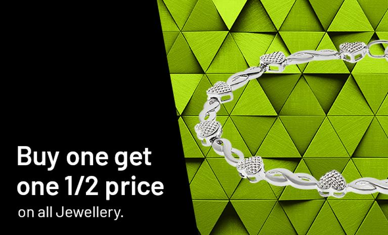Buy one get one half price on jewellery.