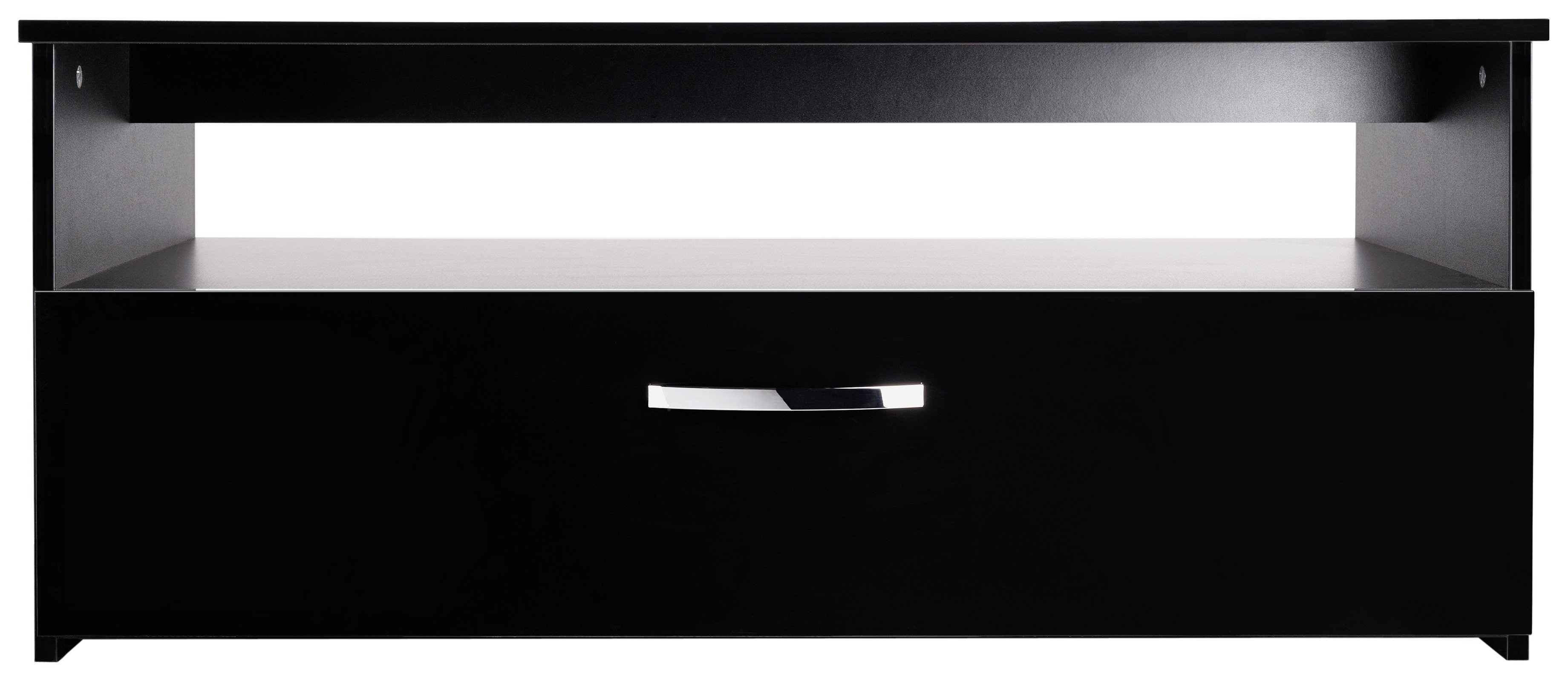 buy hygena hayward 1 drawer 1 shelf coffee table - black gloss at