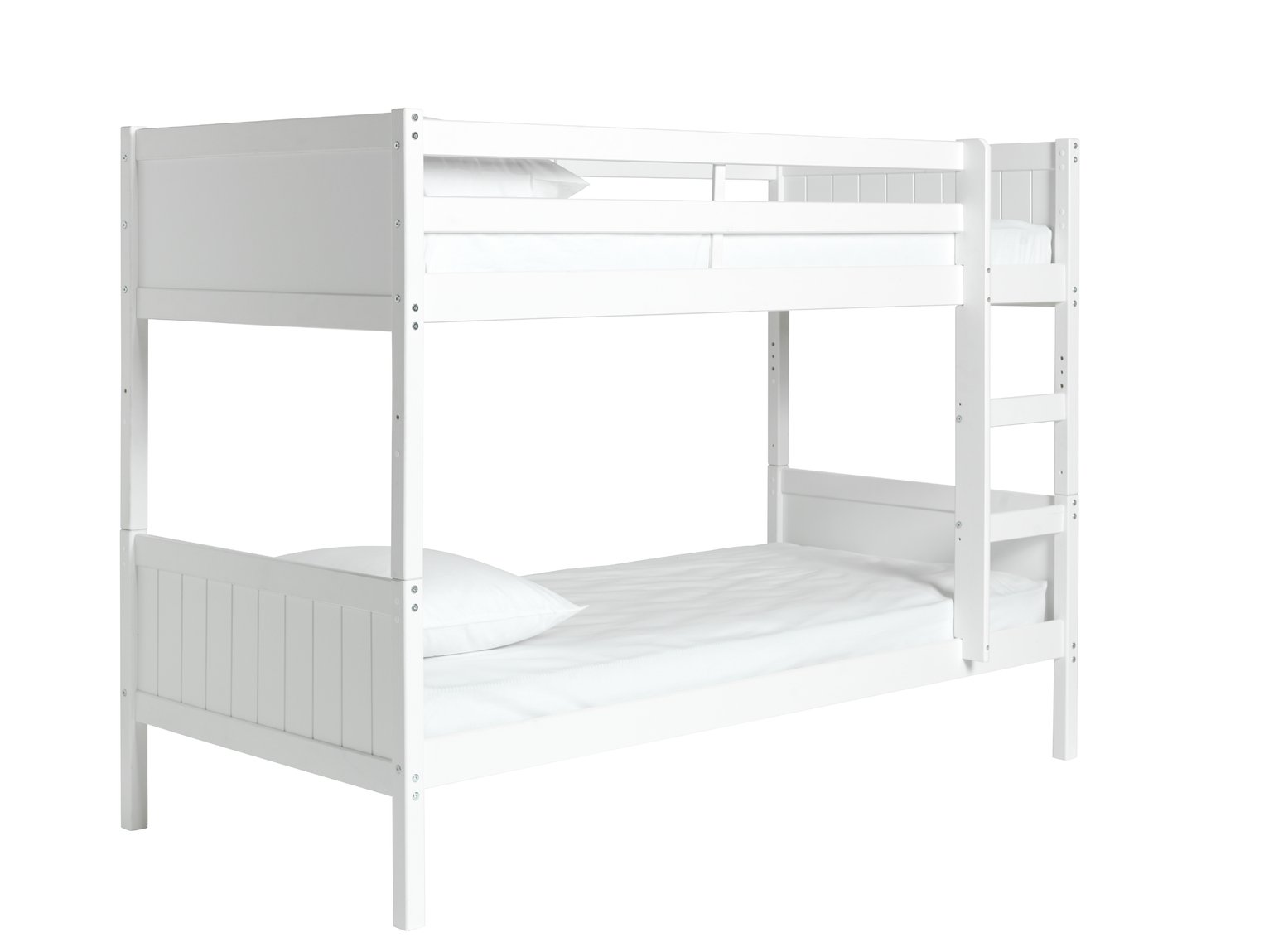 Argos Home Detachable White Bunk Bed & 2 Kids Mattresses